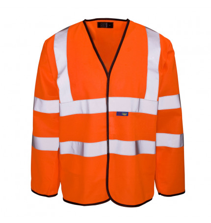Supertouch Hi Vis Long Sleeved Vest
