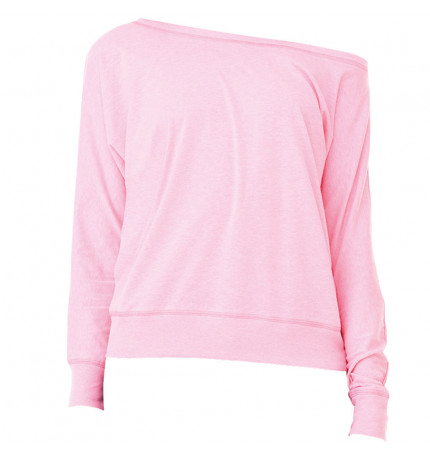 Bella+Canvas Flowy Off The Shoulder Long Sleeve T-Shirt
