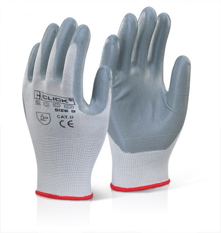 Click 2000 Nitrile Foam Poly Gloves