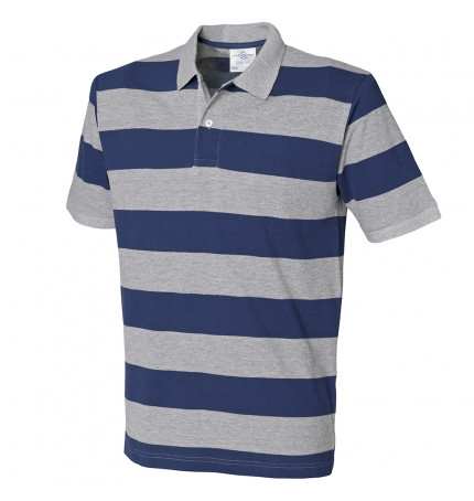Front Row Striped Pique Polo Shirt