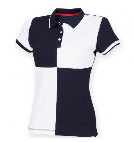 Front Row Women's Quartered House Polo Shirt