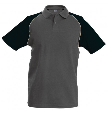 Kariban Baseball Polo Shirt
