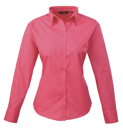 Premier Women's Poplin Long Sleeve Blouse