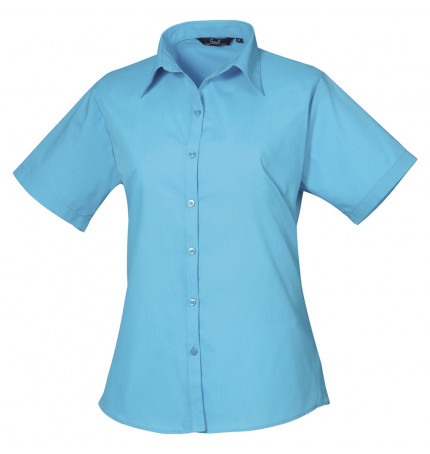 Premier Short Sleeve Poplin Blouse