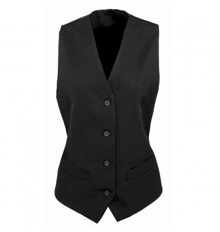 Premier Women's Lined Polyester Waistcoat