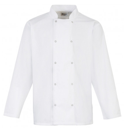 Premier Studded Front Long Sleeve Chef Jacket