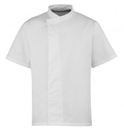 Premier Culinary Pull-On Chef's Short Sleeve Tunic
