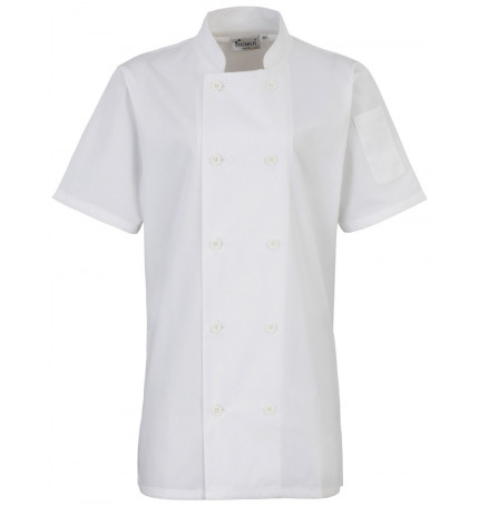 Premier Women's Short Sleeve Chef's Jacket