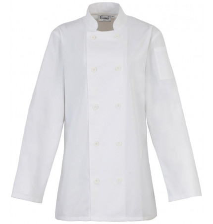 Premier Women's Long Sleeve Chef's Jacket