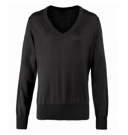 Premier Women's V-Neck Knitted Sweater