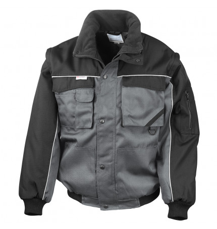Result Work-Guard Zip Sleeve Heavy Duty Pilot Jacket