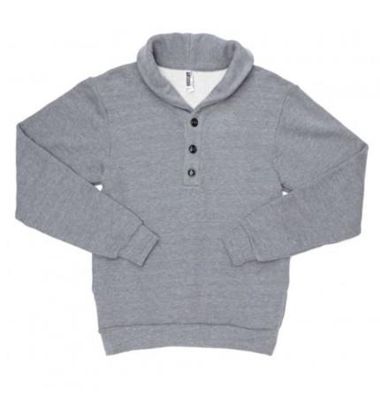 American Apparel Unisex Shawl Collar Rugby Sweatshirt