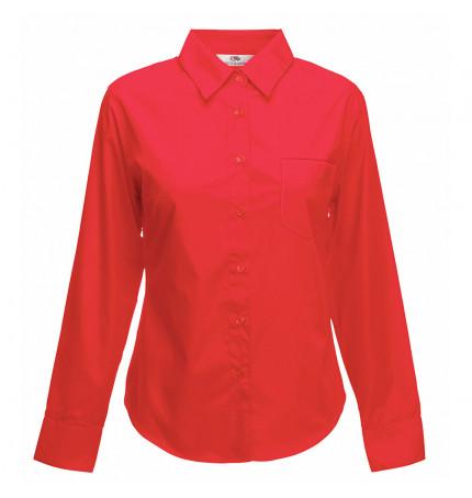 Fruit of the Loom Lady-Fit Poplin Long Sleeve Shirt