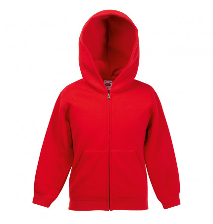 Fruit of the Loom Classic 80/20 Kids Hooded Sweat Jacket