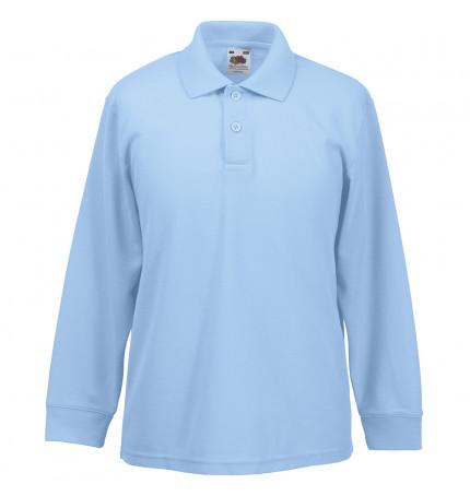 Fruit of the Loom Kids Long Sleeve 65/35 Polo Shirt