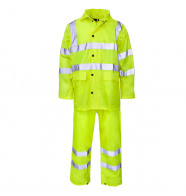 Supertouch Polyester/PVC Hi Vis Rainsuit