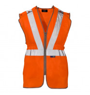 Supertouch Hi Vis Polyester Long Tracker Vest