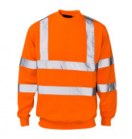 Supertouch Hi Vis Crew Neck Sweatshirt