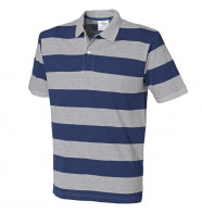 Front Row Striped Pique Polo Shirt