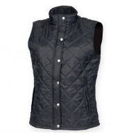 Front Row Womens Diamond Quilt Gilet