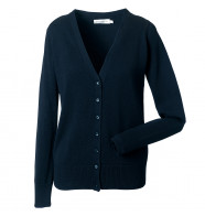 Russell Women's V-Neck Knitted Cardigan