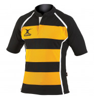 Kids Gilbert Xact Hooped Rugby Jersey