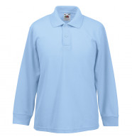Fruit of the Loom Kids Long Sleeve 65/35 Polo Shirt