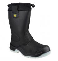 Amblers Steel Tie Top Rigger Boots