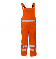 Supertouch Hi Vis Polycotton Bib Trousers