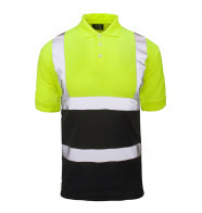 Supertouch Hi Vis 2 Tone Polo Shirt