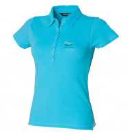 DWSC Skinnifit Women's Short Sleeve Stretch Polo Shirt