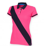 Front Row Women's Diagonal Stripe House Polo Shirt