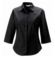 Russell Collection Women's 3/4 Sleeve Fitted Shirt