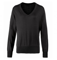 Premier Women's V-Neck Knitted Sweater