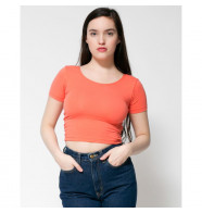 American Apparel Cotton Spandex Jersey Crop Tee