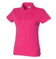 Skinnifit Women's Short Sleeve Stretch Polo Shirt