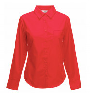 Fruit of the Loom Lady-Fit Poplin Long Sleeve Shirt
