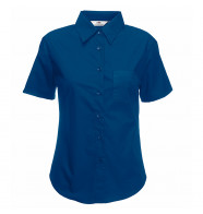 Fruit of the Loom Lady-Fit Poplin Short Sleeve Shirt